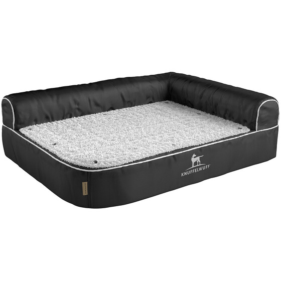 Knuffelwuff Orthopaedic Corner Dog Bed Arizona 100 x 70cm Black