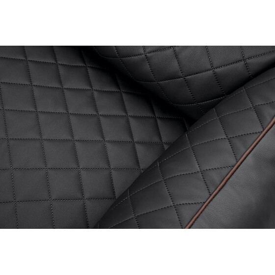 Knuffelwuff Quilted Leather Dog Bed Milan