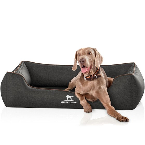Knuffelwuff Orthopedic Velour Dog Bed Amelie