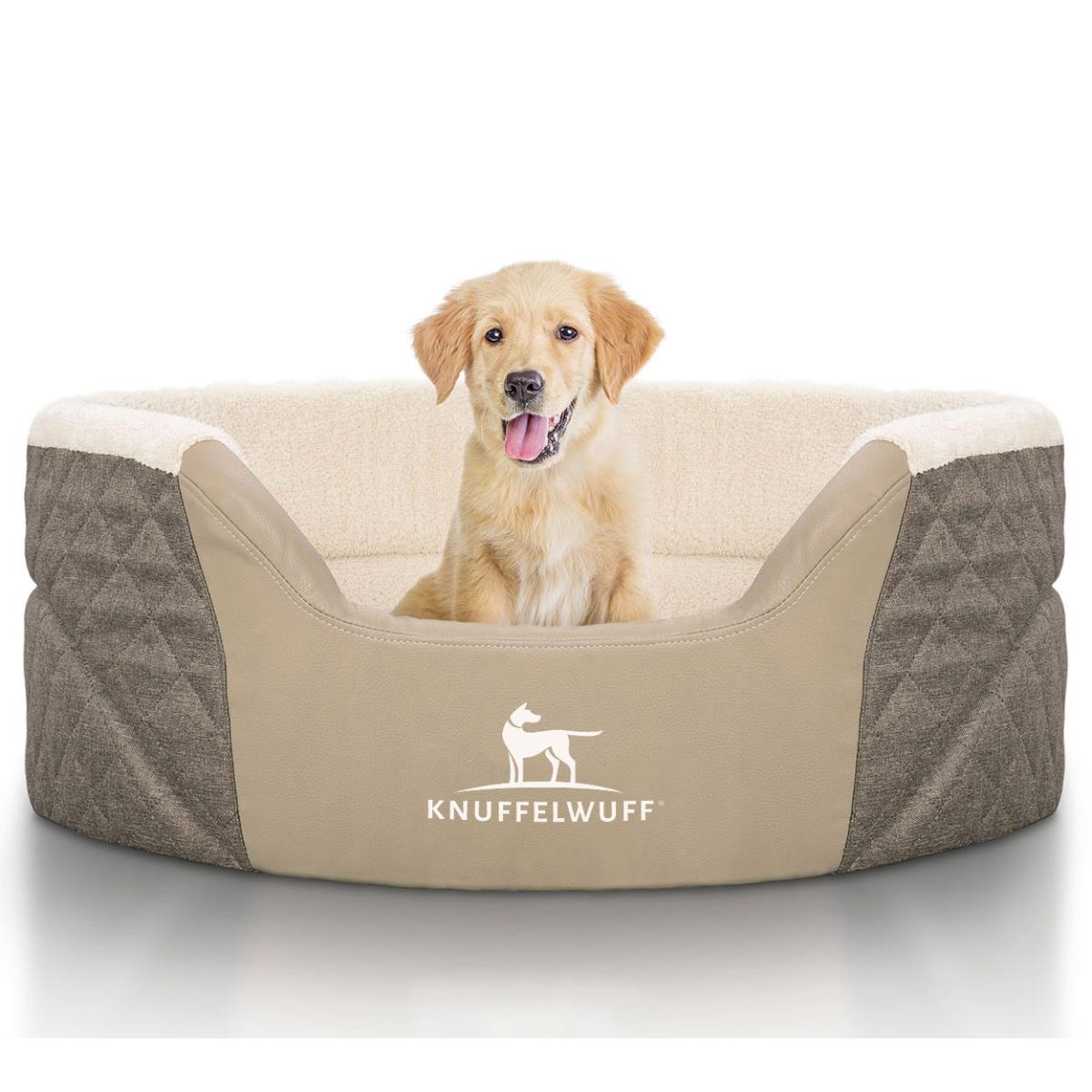 knuffelwuff orthop disches hundebett lena mit hohem. Black Bedroom Furniture Sets. Home Design Ideas
