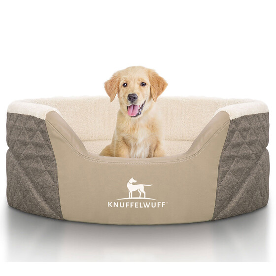 Knuffelwuff Orthopaedic Dog Bed Lena with High Edges