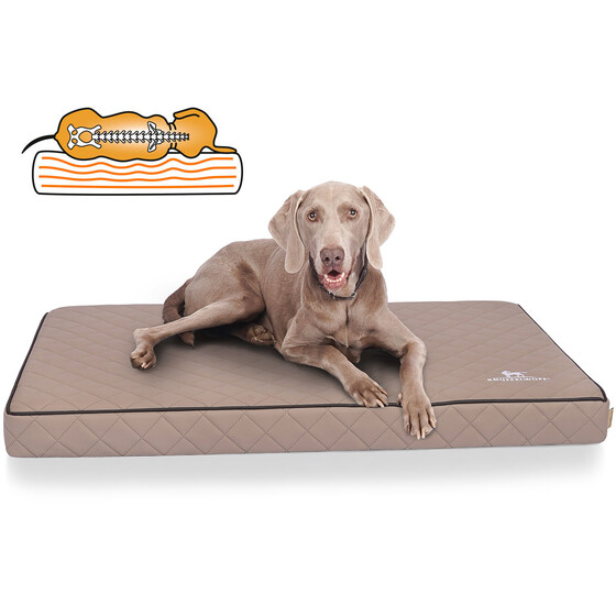 Knuffelwuff Orthopedic Dog Mat Juna Made From Laser Quilted Synthetic Leather