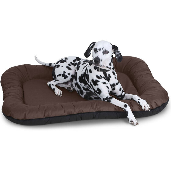 Knuffelwuff In-/Outdoor waterproof dog bed Lucky Brown / XXL